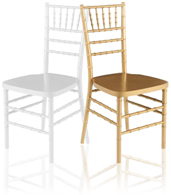 White And Gold Tiffany Chairs For Rent